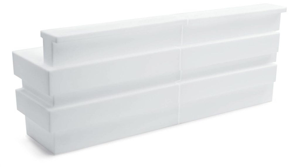 bancone bianco da bar per esterni