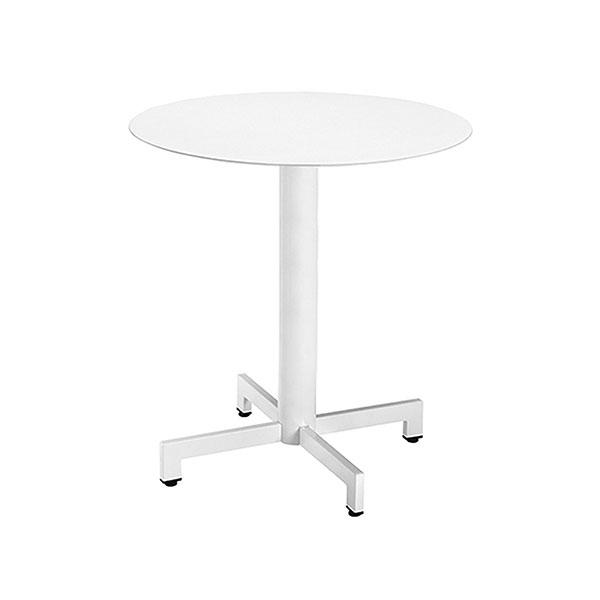 tavolo tondo esterno bianco